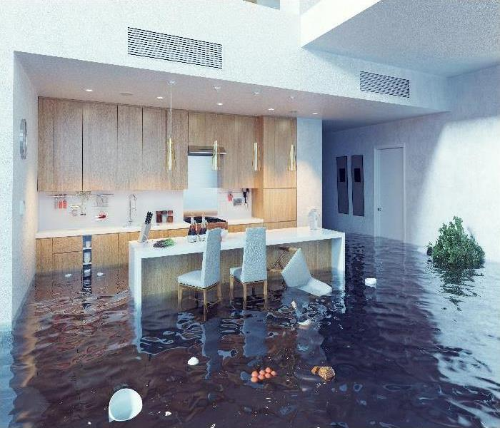 flooding in the kitchen